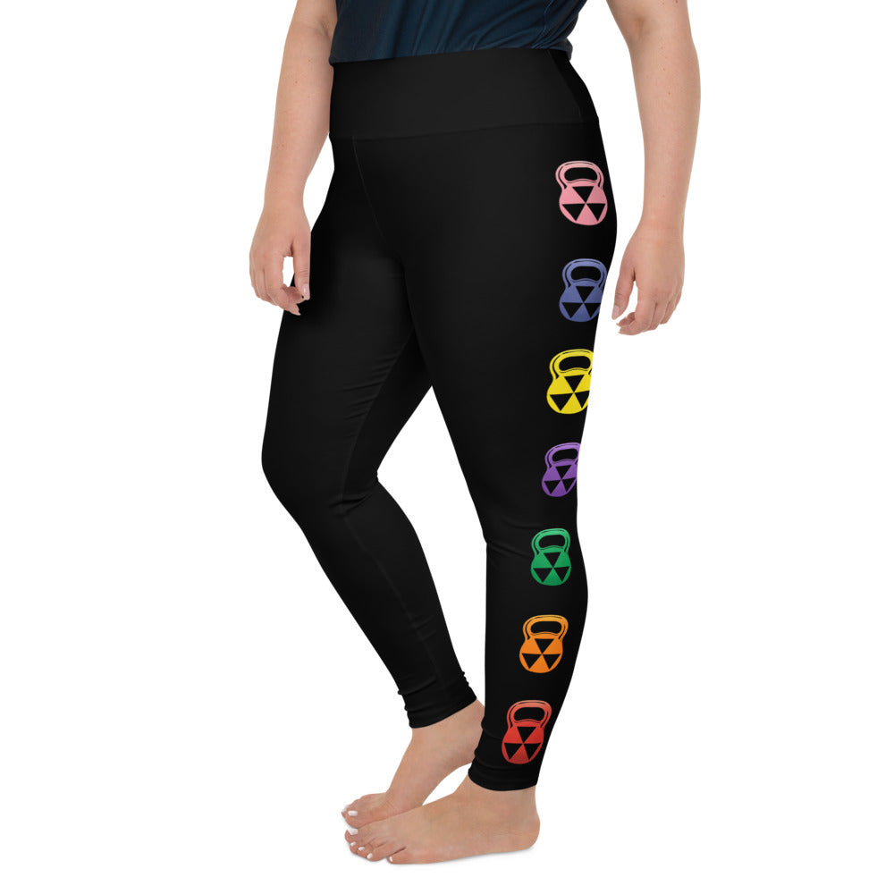 Black Rain-Bell Bomb Shelter  Plus Size Leggings
