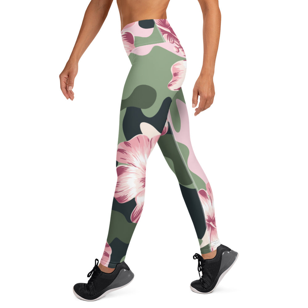 Oversized Flower Power Camouflage Leggings
