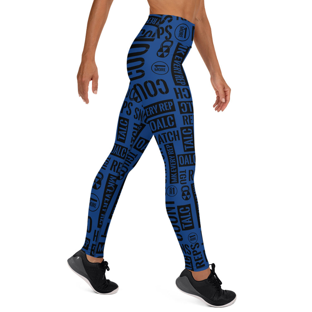 Blue Bomb Shelter Kettlebell Sport Leggings