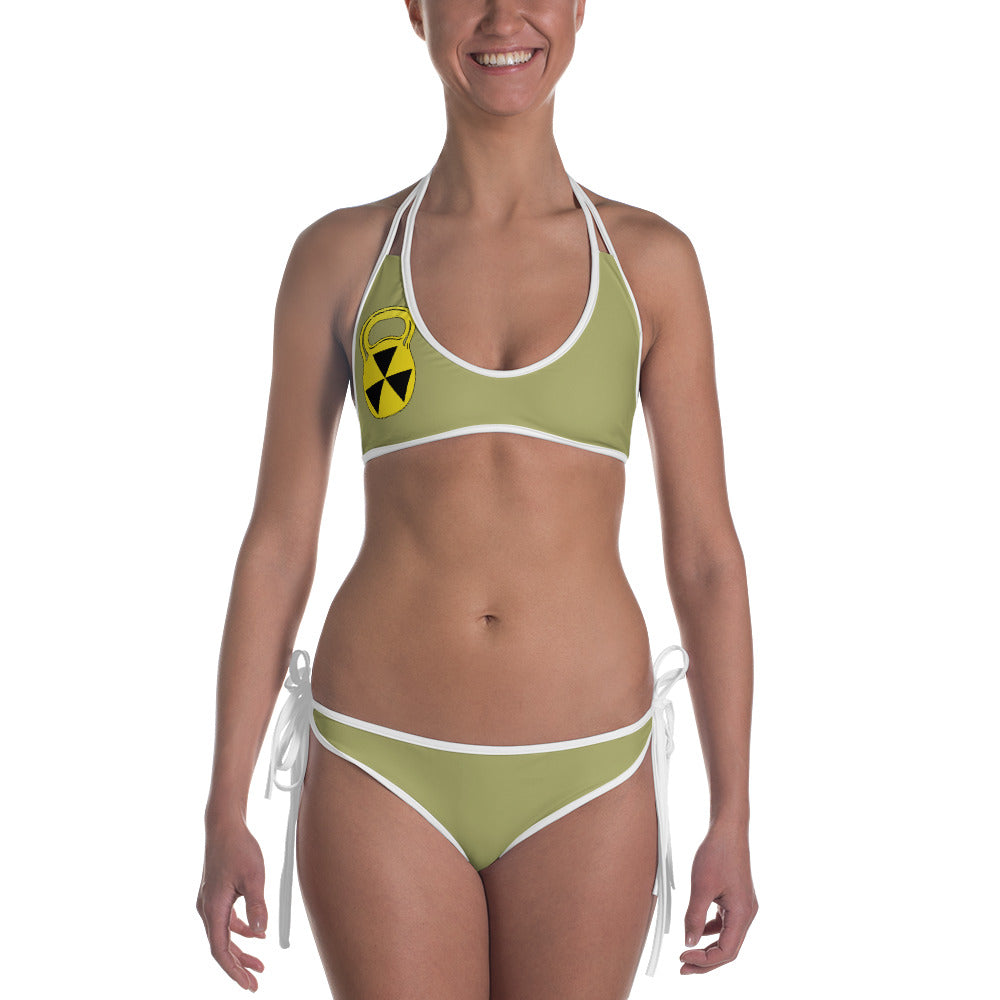 Reversible Green Camo Bathing Suit Set