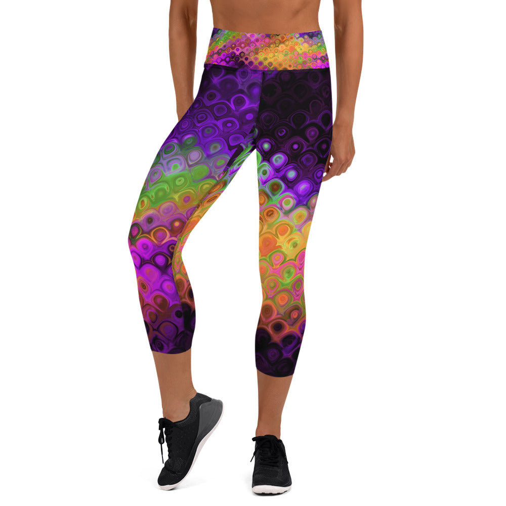 Purple Haze Capri Leggings