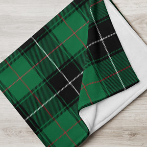 Green Plaid Throw Blanket