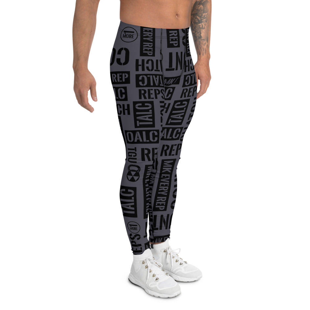 Men's Dark Gray Kettlebell Acronyms  Leggings