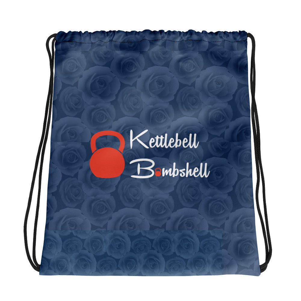 Kettlebell Bombshell/ Rosie the Riveter  Drawstring bag