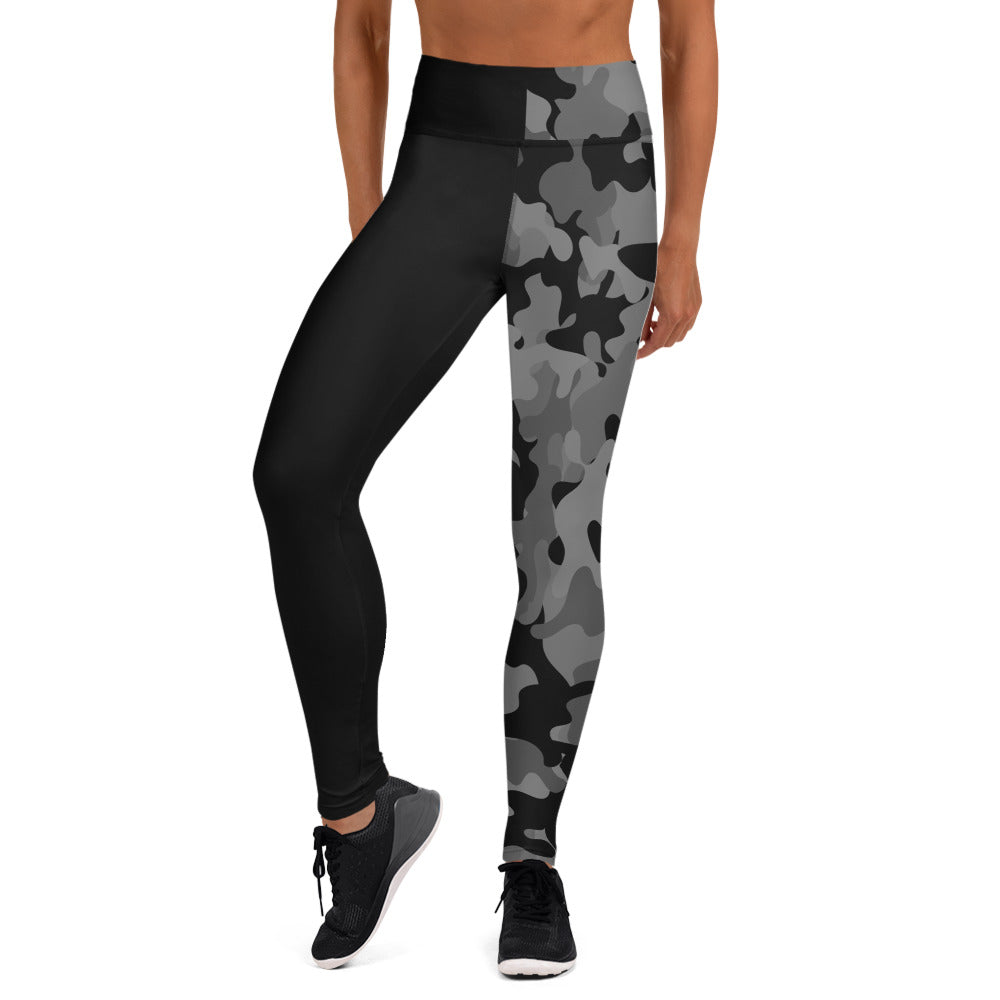 The Rain-Bell Black Half Camo Leggings