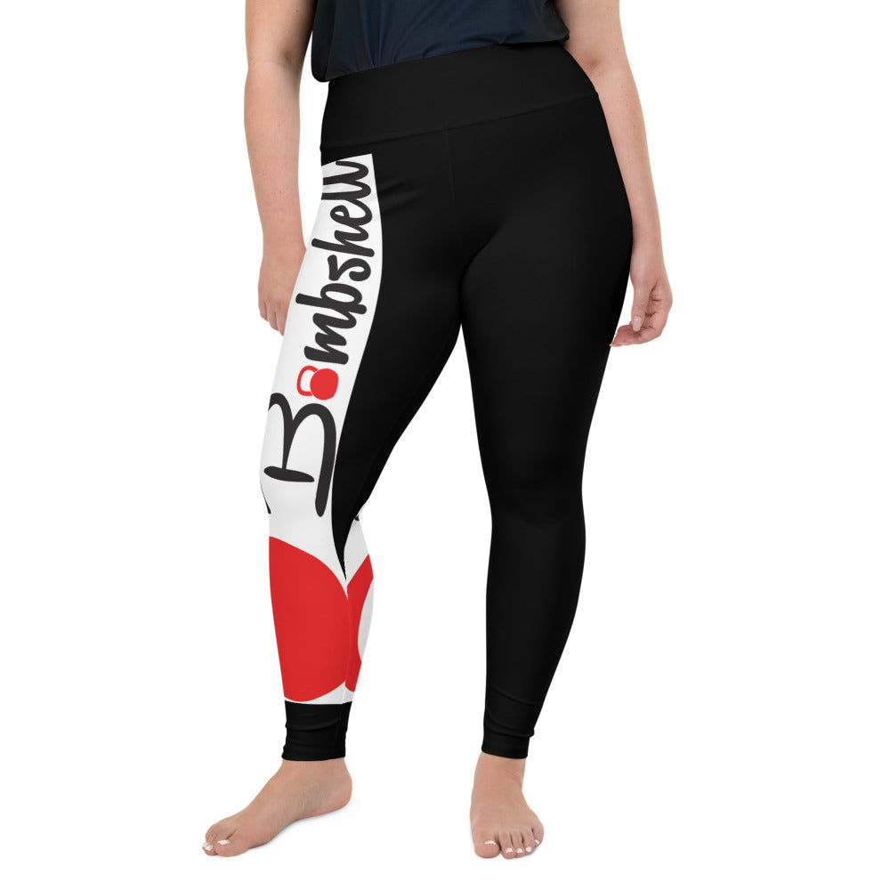 KBBS Black Logo Plus Size Leggings