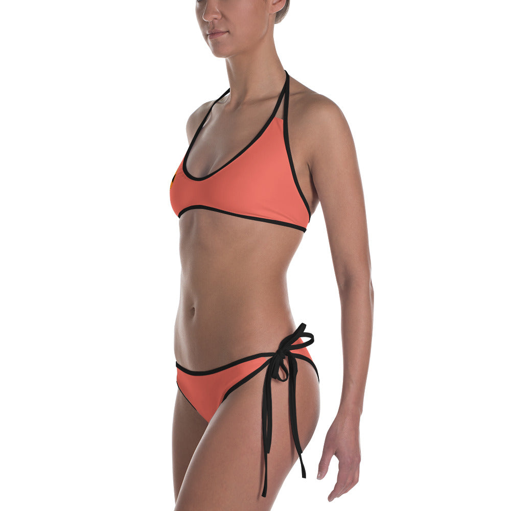 Reversible Orange/Camo Bathing Suit Set