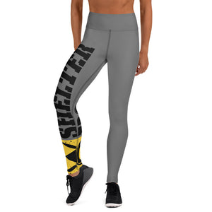 Gray And Black Bomb Shelter Logo Leggings