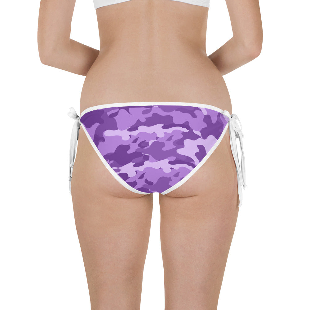 Reversible Purple /Camo Bathing Suit Bottom