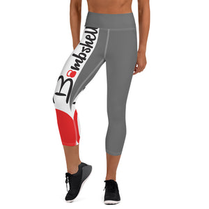 Gray KBBS Logo Capri Leggings