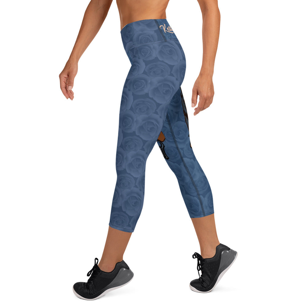 Rosie The Riveter High Waist Capri Leggings
