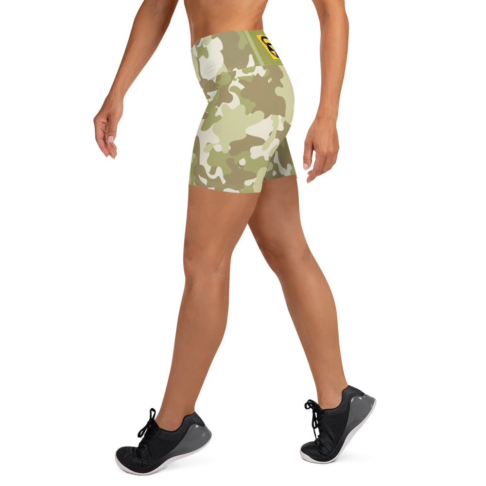 Green Bomb Shelter  Shorts All Over Camo