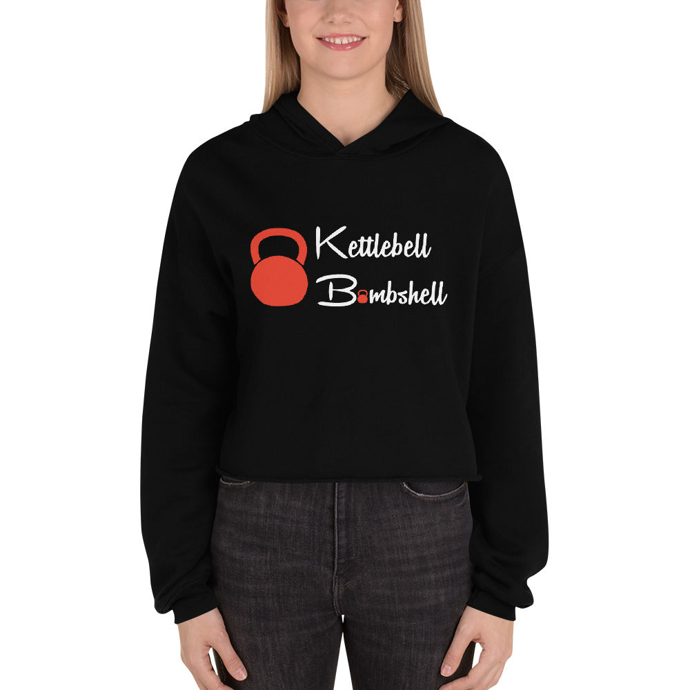 Bombshell Logo Cropped Hoodie