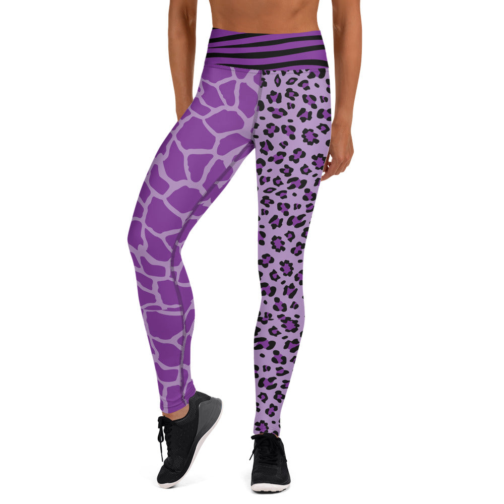 Violet Wild Animal Print Leggings