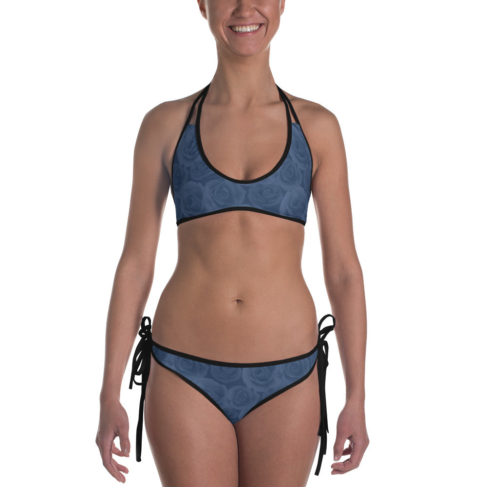 The Rosie Reversible Blue  Bikini
