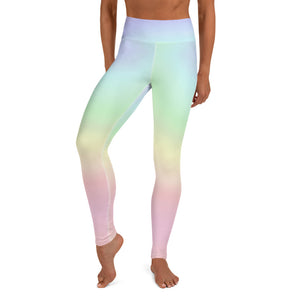Pastel Rainbow Ombré Leggings