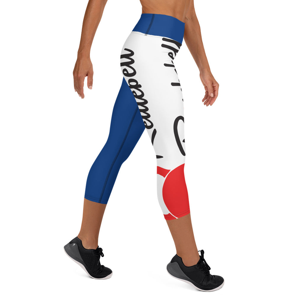 Royal Blue KBBS Logo Capri Leggings