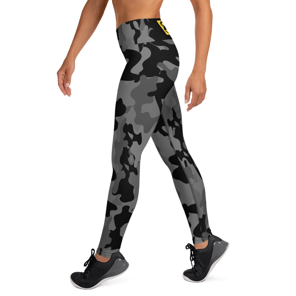 Black And Gray Bomb Shelter Camouflage Leggings