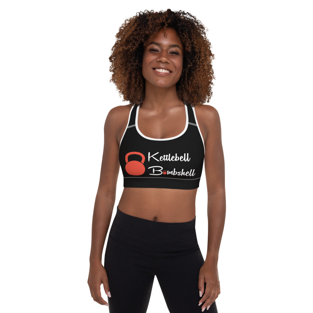 KBBS Black Logo Sports Bra Top