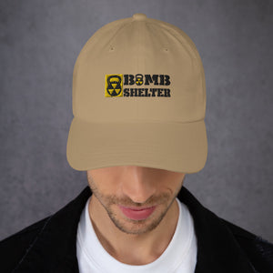 White Bomb Shelter Dad Hat Unisex