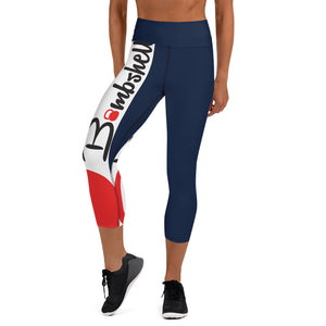 Navy KBBS Logo Capri Leggings