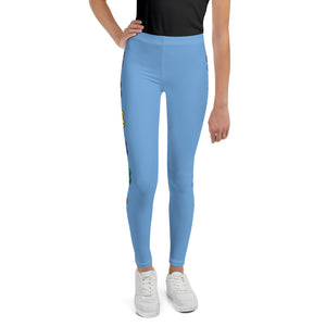 Girl's Rain-bell Bomb Shelter Blue  Leggings