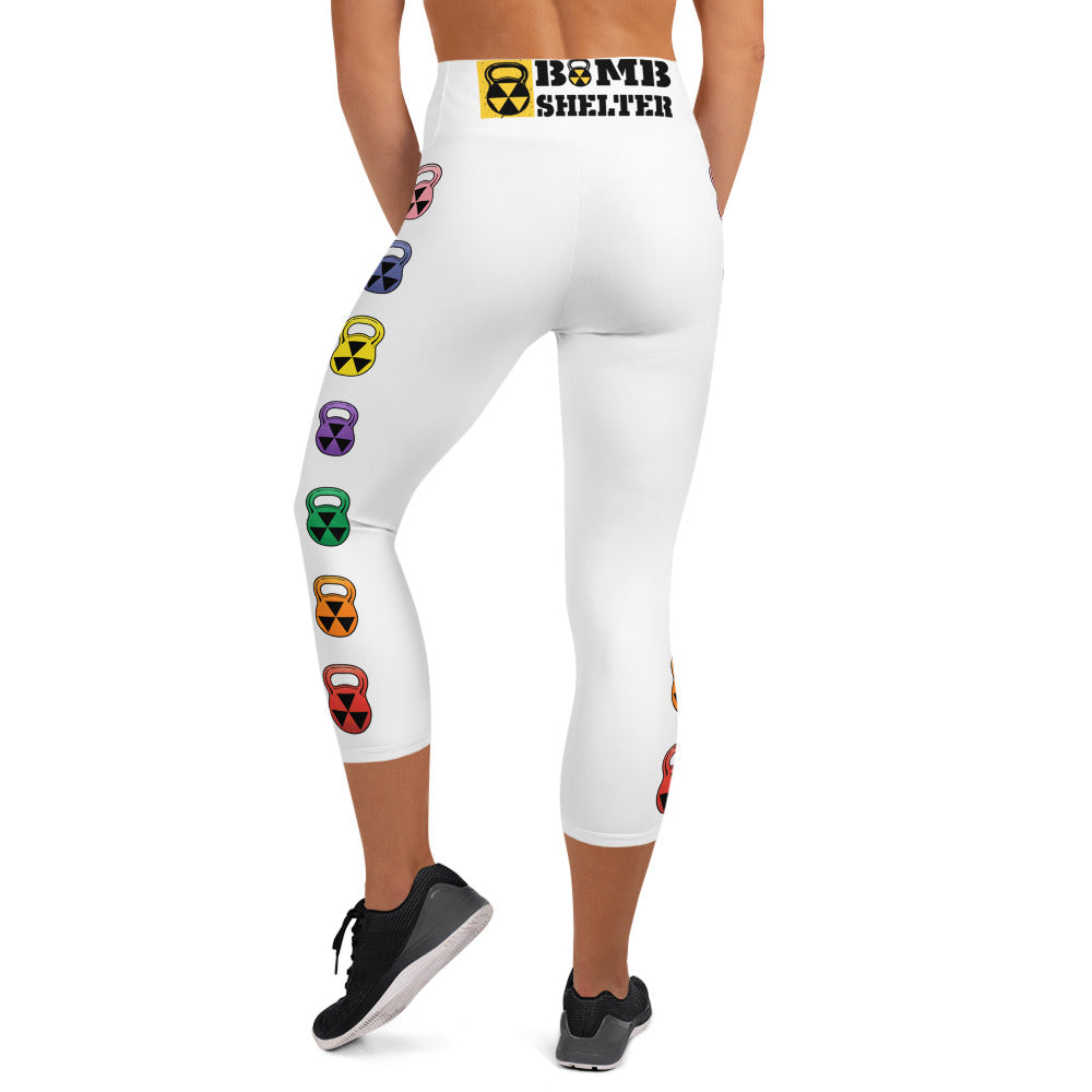 The Rain-bell White Capri leggings