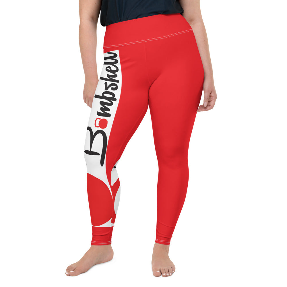 KBBS Red Logo Plus Size Leggings