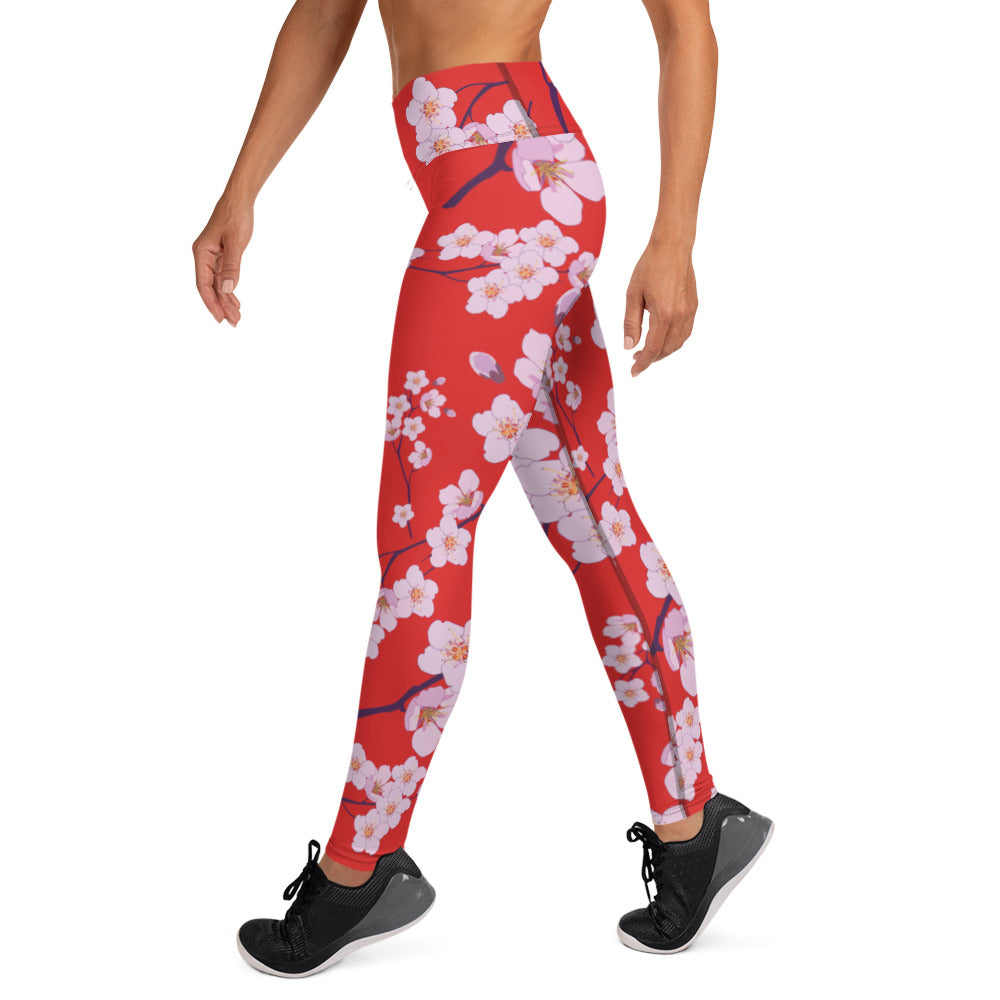 Japanese Cherry Blossoms Leggings