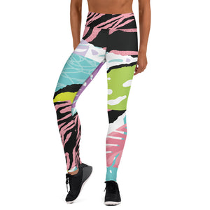 It's A Jungle Pink Tiger Striped Leggings