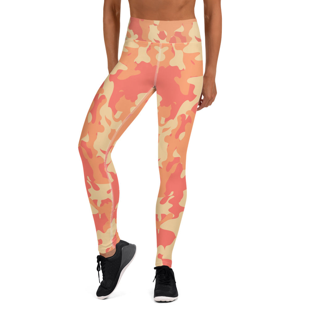Orange  All Over Camo Bomb Shelter  Leggings