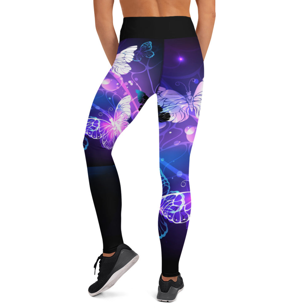 Purple Butterfly Leggings