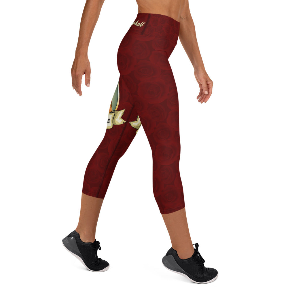 Veronica High Waist Capri Leggings