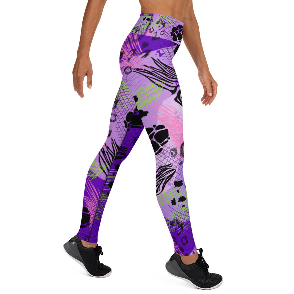 Purple Safari Leggings