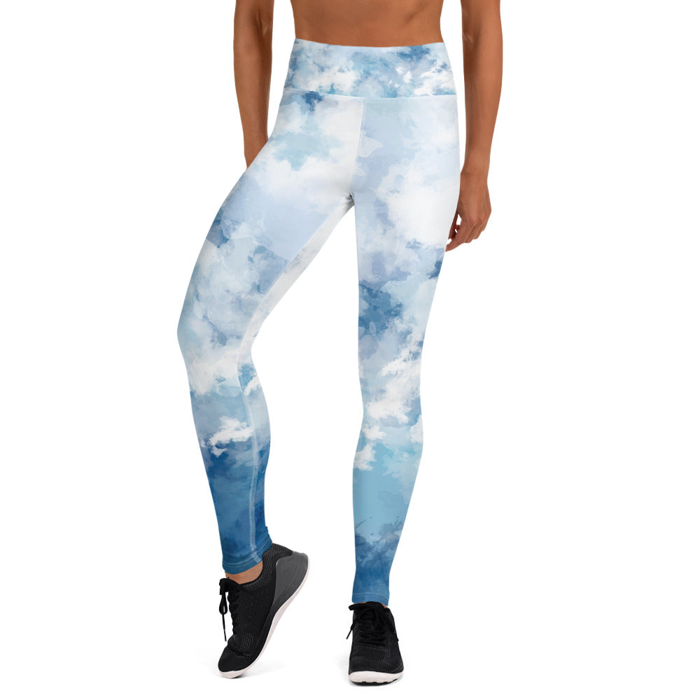 Water Color Bomb Shelter Leggings