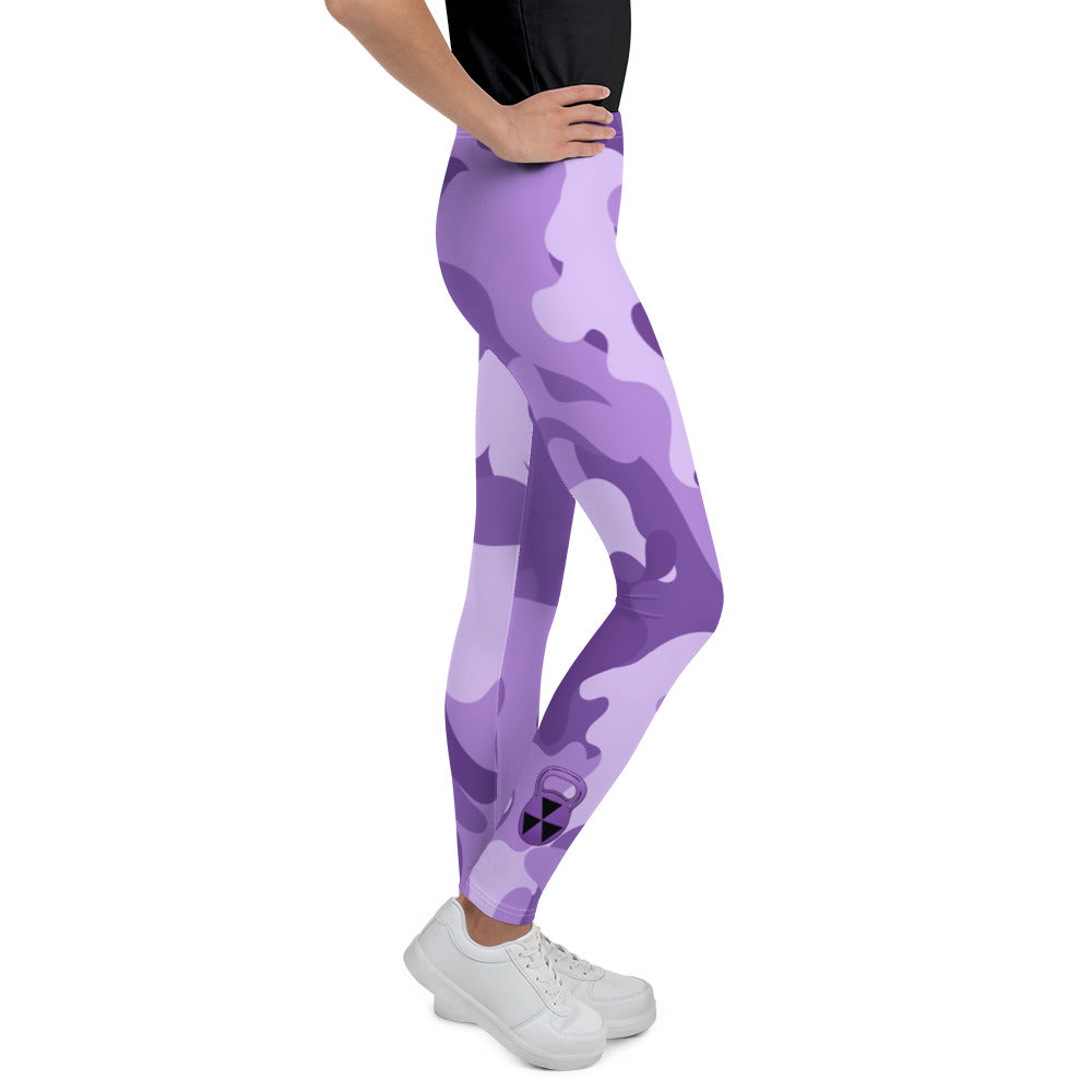 Girl's Purple Bomb Shelter Camouflage  Leggings