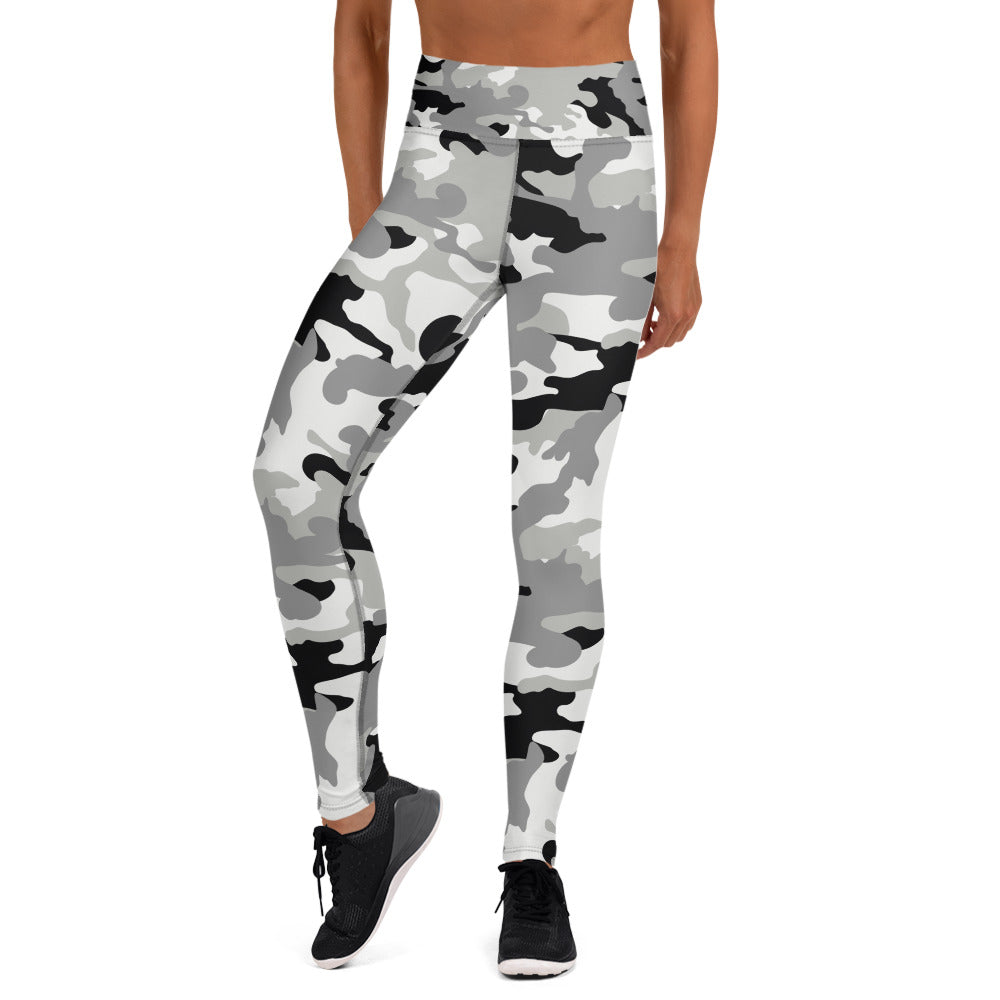 Black and White Camouflage Leggings