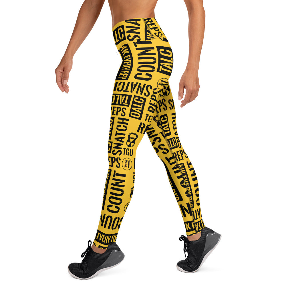 Gold Bomb Shelter Kettlebell Sport Leggings