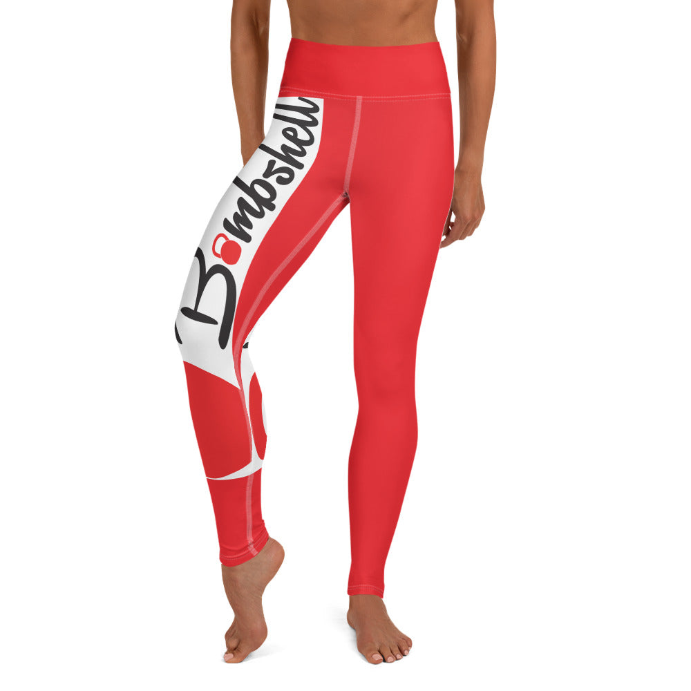 Red KBBS Logo Leggings