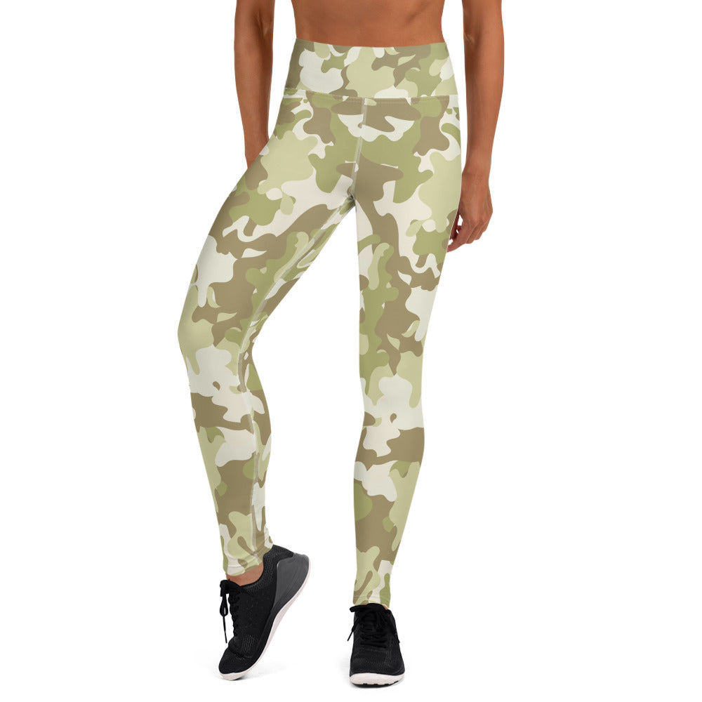 Green Camouflage Leggings