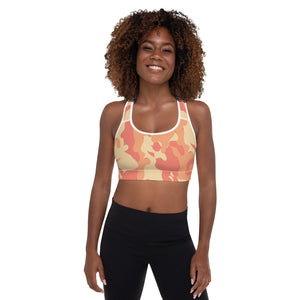 Orange /Camo Bomb Shelter Sports Bra