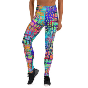 Water Color Snake Skin Leggings