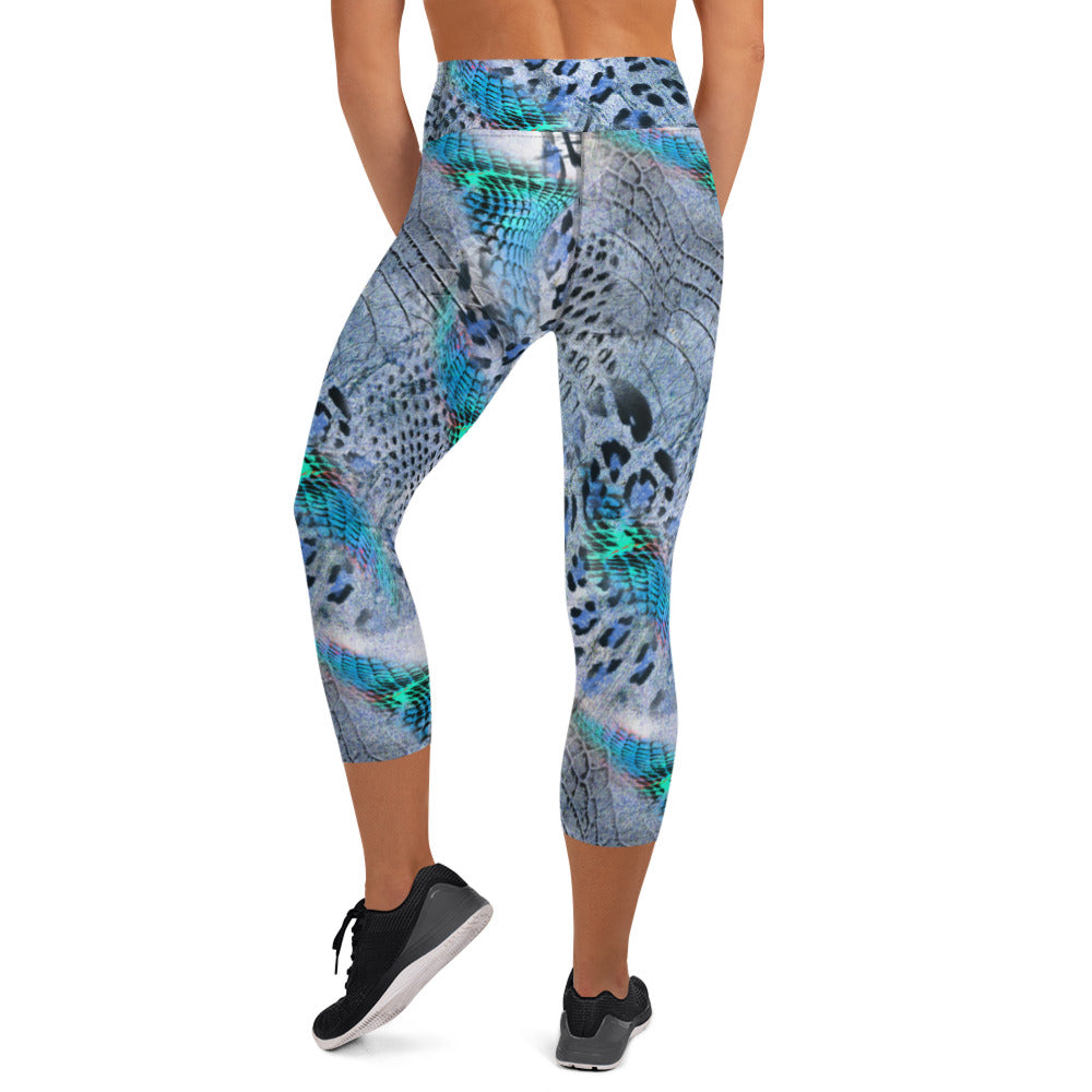 Winter Wild Animal Print Capri Leggings