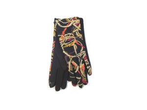 Embroidery Abstract Gloves