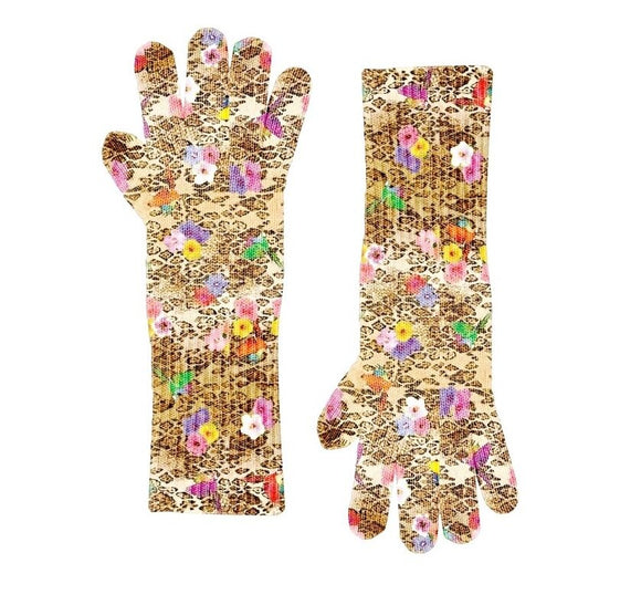 Animal Floral Knit Glove
