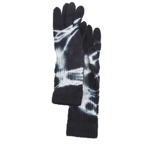 Black Tie Dye Knit Gloves