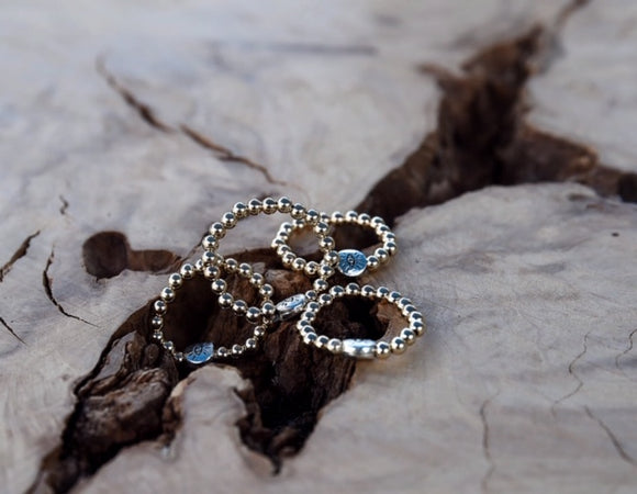 Metallic Beaded Ring