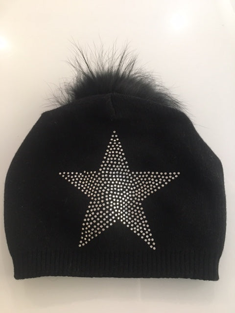 Large Crystal Star Beanie Hat
