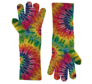 Multi Tie Dye Knit Gloves