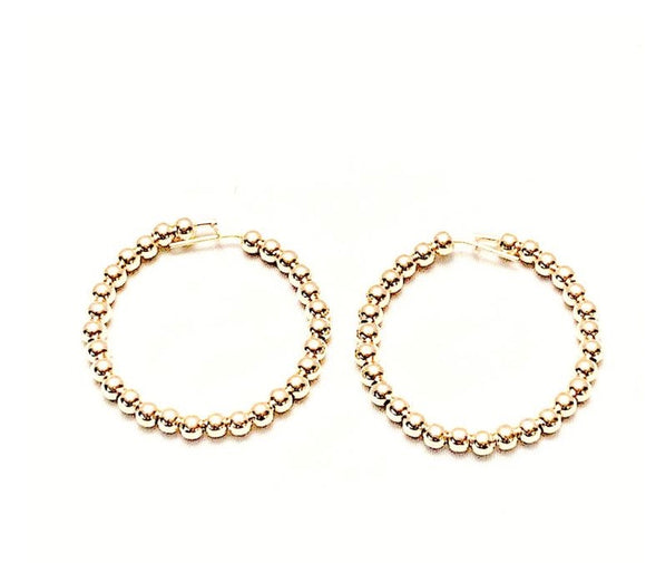 Gold Ball Hoops, Small Size